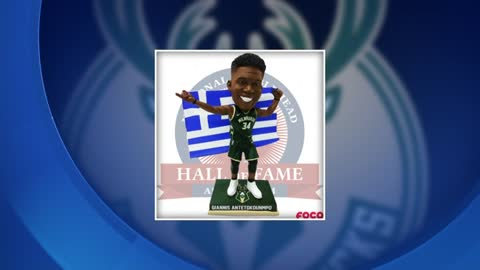 Limited edition Giannis Antetokounmpo Greek Freak bobblehead...
