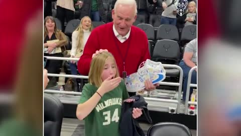 Mequon girl living in a dream after being gifted sneakers from Giannis