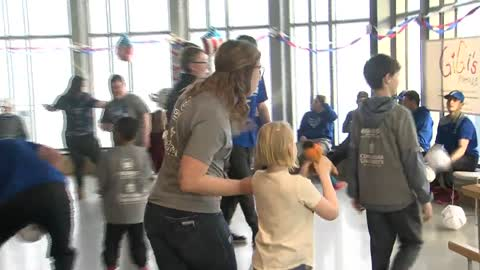 Concordia University baseball team throws party for community members with disabilities