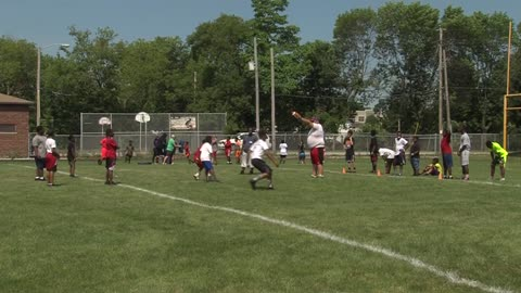 Gilbert Brown hosts football camp at North Division High School