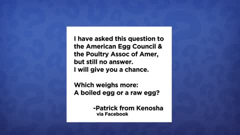 Glad You Asked: a viewer has a question about the weight of raw eggs vs. boiled eggs
