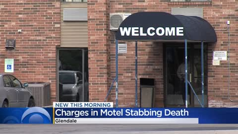 Woman charged in fatal stabbing at Glendale motel