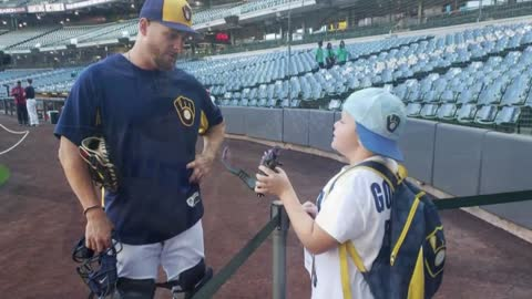 """Because of Godzilla powers:"" Meet the 10-year-old boy giving the Brewers the power to win"
