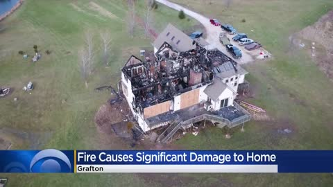 Daylight shows damage to Grafton home after devastating fire