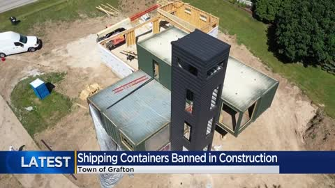 Shipping container construction banned in Grafton