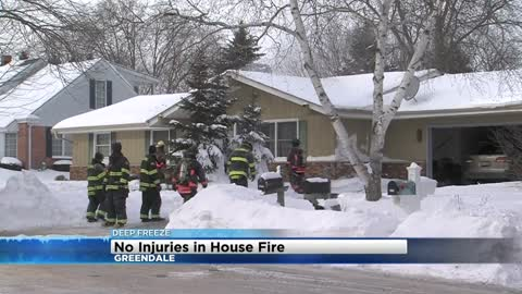 Snow covered hydrant hampers firefighting efforts in Greendale