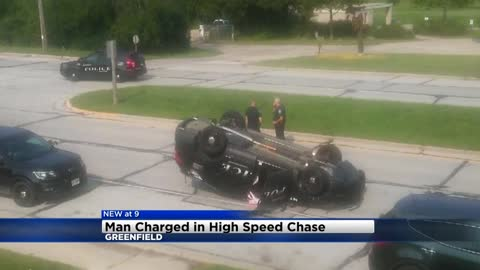 Man charged after allegedly causing crash during high speed chase in Greenfield