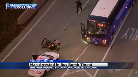 Passenger detained after making threat on bus from Milwaukee to Chicago