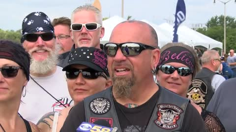 Thousands from all over the world ride in Harley-Davidson parade