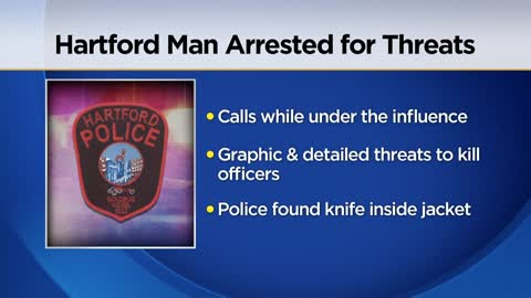 Hartford man armed with knife arrested for making threats to police department, city hall