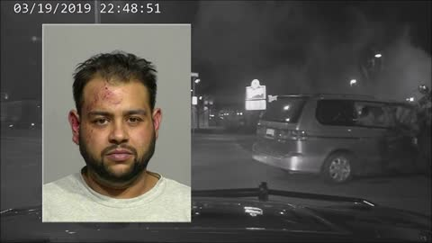Dash cam released of suspected drunk driver arrested after high...