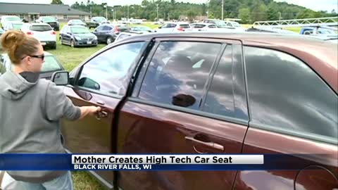 Wisconsin mother creates high tech car seat to combat heat related child deaths