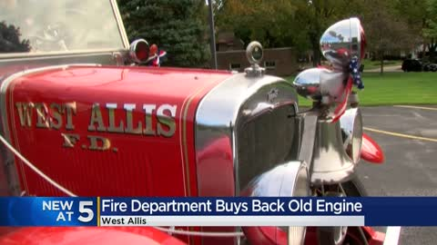 West Allis Fire Department buys back historic fire engine