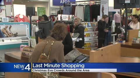 Customers fill stores for last-minute holiday shopping