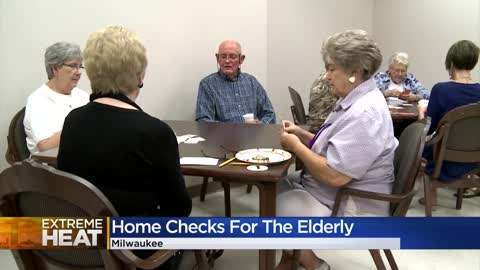 Home checks for the elderly during extreme heat