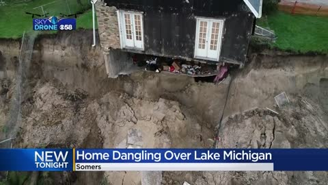 Somers home teetering on edge of Lake Michigan bluff will soon be demolished