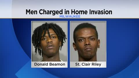 Two men charged after father and son attacked in Milwaukee home...