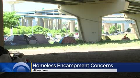"Homeless encampment has become ""unsafe,"" Milwaukee Downtown..."