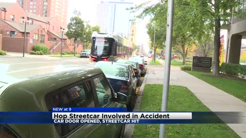 The Hop Streetcar involved in second accident involving car door