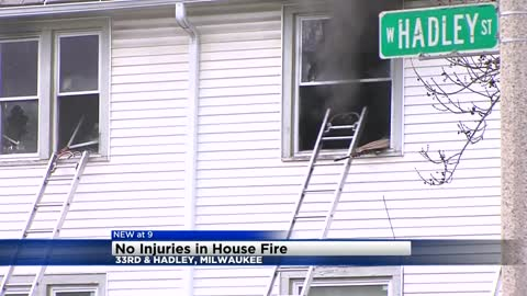 No one injured in house fire near 33rd and Hadley