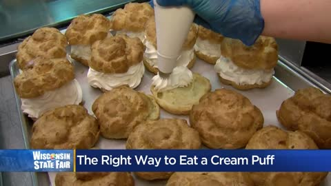Wisconsin State Fair: How to properly eat a cream puff