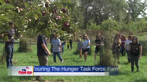 Farm Aid visitors tour Hunger Task Force farm in Franklin