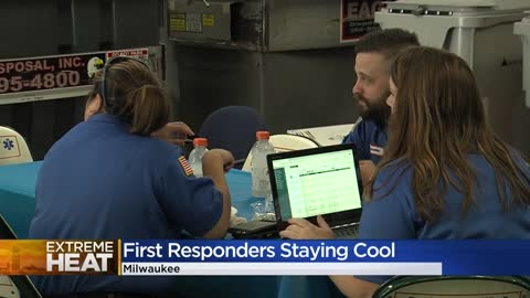 Bell Ambulance opens hydration station for crews to cool off...