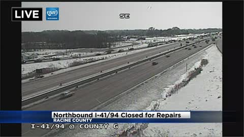 Two lanes on I-94 north in Racine County closed at Highway G...