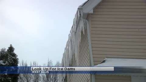 Watch for ice dams as temperatures warm up
