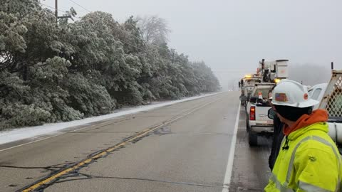 Icy road conditions slowing power restorations in Washington County