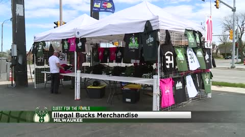 Milwaukee Bucks claim merchandise from pop-up tents is illegal
