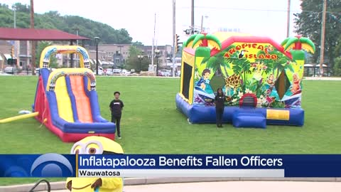 Inflatapalooza event in Wauwatosa benefits fallen officers
