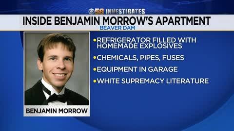 Explosive chemicals, white supremacist material found in apartment of man killed in Beaver Dam explosion