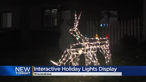 Wauwatosa man creates interactive Christmas light display