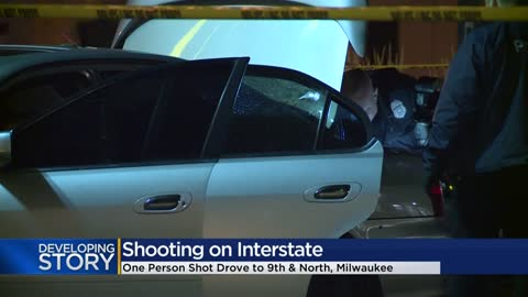Shots fired investigation shuts down I-43 SB, man taken to hospital from 9th and North