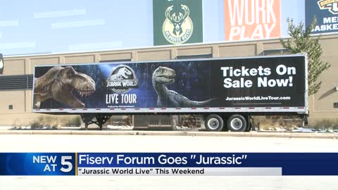 Jurassic World Live arrives at Fiserv Forum