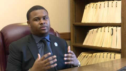 First day on the job for 19-year-old Kalan Haywood II, the youngest State Representative in the country
