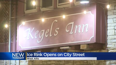 Public ice rink officially open outside Kegel's Inn in West...