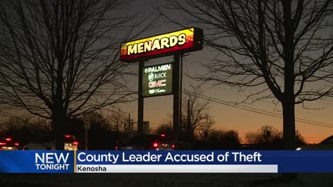 Kenosha County Board chairman charged with felony retail theft