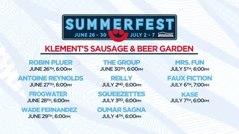 Klement's Sausage & Beer Garden headliners announced for Summerfest