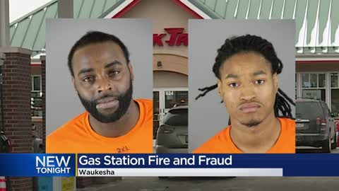 Men accused of starting gas pump fire after using stolen credit...
