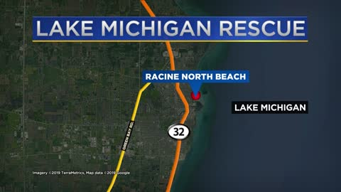Woman rescued from Lake Michigan by Racine authorities, U.S. Coast Guard