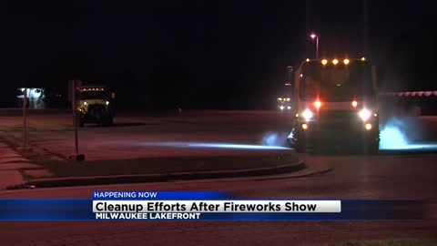 Clean-up underway following Milwaukee's U.S. Bank fireworks show