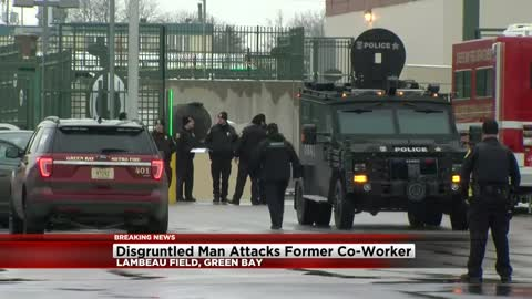 Fired food worker arrested after ramming vehicle at Lambeau