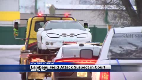 Man at the center of Lambeau rampage appears in court