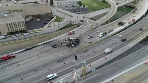UPDATE: I-43 reopens at the Marquette Interchange following chemical truck crash and fire