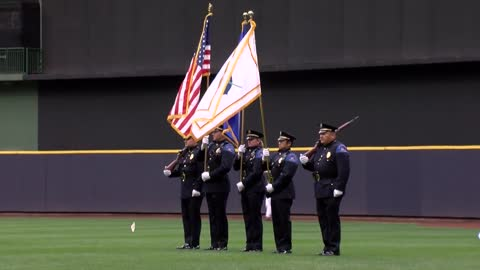 Ceremony honors officers during Law Enforcement Night at Miller Park