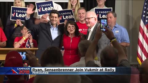 Over 200 supporters attend Pewaukee rally for Leah Vukmir