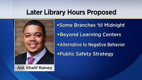 Milwaukee Alderman wants libraries open later as part of public safety strategy