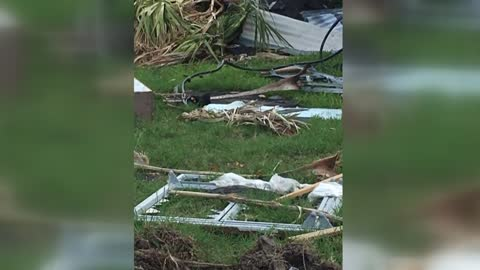 """Worse than expected:"" Local woman picking up debris from Hurricane Harvey"